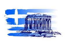 Fundo com o motivo de Grécia Imagens de Stock