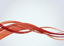 Fundo com obscuridade - swooshes vermelhos Fotografia de Stock Royalty Free
