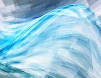 Fundo com onda azul Vetor Imagens de Stock