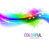 Fundo com onda colorida Fotografia de Stock Royalty Free