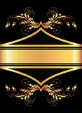 Fundo com ornamento dourado Foto de Stock Royalty Free