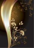 Fundo com ornamento e a fita elegante Fotografia de Stock Royalty Free
