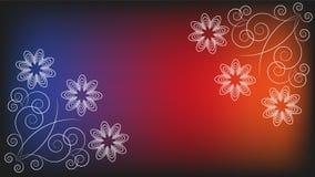 Fundo com ornamento floral Fotos de Stock