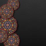 Fundo com ornamento tradicional ilustração royalty free