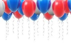 Fundo com os balões de ar infláveis da cor Foto de Stock