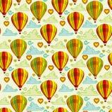 Fundo com os balões de ar quente Foto de Stock Royalty Free