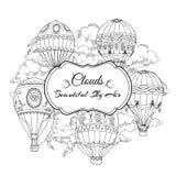Fundo com os balões de ar quente Fotografia de Stock Royalty Free