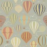 Fundo com os balões de ar quente Fotografia de Stock