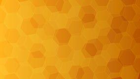 Fundo com os favos de mel alaranjados e amarelos Ilustração do vetor Fotos de Stock