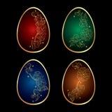 Fundo com os ovos da páscoa decorados coloridos Imagem de Stock Royalty Free
