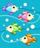 Fundo com os peixes Imagens de Stock