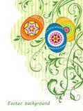 Fundo com ovos da páscoa Ilustração do Vetor