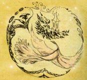 Fundo com pássaro ilustração do vetor