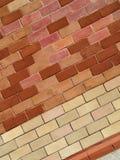 Fundo com parede de tijolo imagens de stock