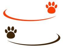 Fundo com pata do animal de estimação Fotografia de Stock Royalty Free