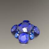 Fundo com pedras preciosas azuis ilustração 3D Imagem de Stock Royalty Free