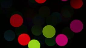 Fundo com piscamento colorido das luzes. video estoque