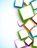 Fundo com quadrados Fotografia de Stock