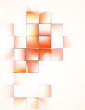 Fundo com quadrados alaranjados ilustração do vetor