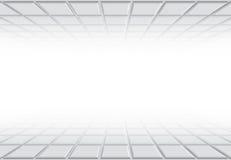 fundo com quadrados da perspectiva Fotografia de Stock Royalty Free