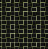 Fundo com quadrados no preto e no amarelo Fotos de Stock Royalty Free