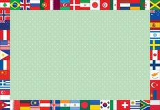 Fundo com quadro das bandeiras Imagens de Stock