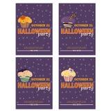 Fundo com queque de Dia das Bruxas - convite party ou cartão Ilustração Royalty Free