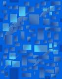 Fundo com rectangulars azuis. Ilustração do vetor Imagem de Stock Royalty Free