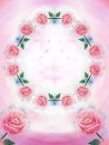 Fundo com rosas pintadas ilustração do vetor