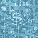 Fundo com símbolo do dólar Imagens de Stock Royalty Free
