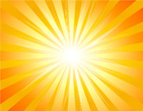 Fundo com Sunburst Fotos de Stock Royalty Free