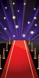 Fundo do vetor com tapete vermelho e estrelas ilustração royalty free
