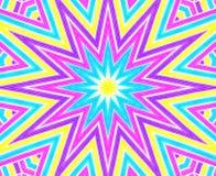 Fundo com teste padrão concêntrico colorido brilhante Imagem de Stock