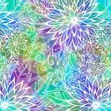 Fundo com teste padrão floral Foto de Stock Royalty Free
