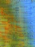 Fundo com testes padrões dos circuitos Fotografia de Stock