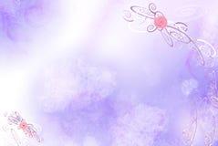 Fundo com testes padrões e flores ilustração do vetor