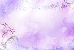 Fundo com testes padrões e flowers-3 ilustração do vetor