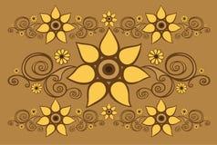 Fundo com testes padrões florais ilustração do vetor