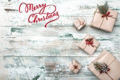 Fundo Com textura moderna Espaço para a mensagem do ` s de Santa Cartão do Natal, Natal, ano novo e Xmas Fotografia de Stock Royalty Free