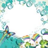 Fundo com trevo colorido Fotografia de Stock
