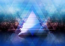 Fundo com triângulos Foto de Stock