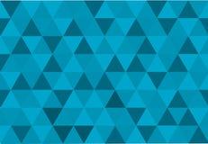 Fundo com triângulos em cores frias Fotografia de Stock Royalty Free