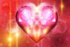 Fundo com um coração ilustração do vetor