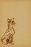 Fundo com um gato ilustração do vetor