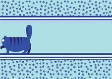 Fundo com um gato e as trilhas de um gato da gordura Imagens de Stock Royalty Free