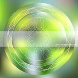 Fundo com um teste padrão circular Foto de Stock