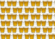 Fundo com um vidro da cerveja Fotos de Stock