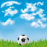 Fundo com uma bola de futebol Foto de Stock Royalty Free
