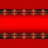 Fundo com uma faixa horizontal com orname do ouro ilustração royalty free