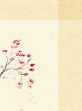 Fundo com uma flor da ameixa ilustração royalty free